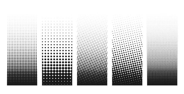 Abstract achtergrondontwerp van grunge halftone vervormde vormen