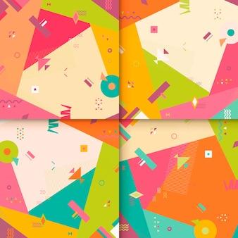 Abstract achtergrondpatroonontwerp met kleurrijke geometrische elementen