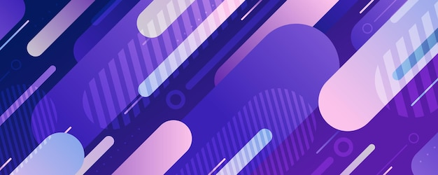 Abstract afgerond lijnenpatroon van technologieontwerp met het geometrische malplaatje van de elementendecoratie. brede presentatie met overlappende stijl van futuristische achtergrond.