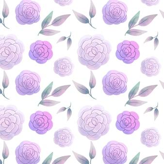 Abstract aquarel bloemenpatroon