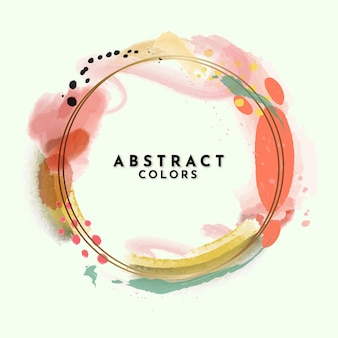Abstract aquarel frame-ontwerp