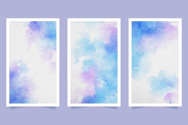 Abstract aquarel omslagpakket