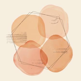 Abstract aquarel zeshoekig frame