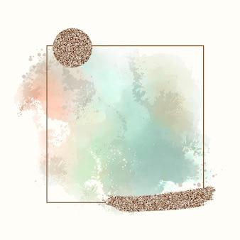 Abstract aquarelkader
