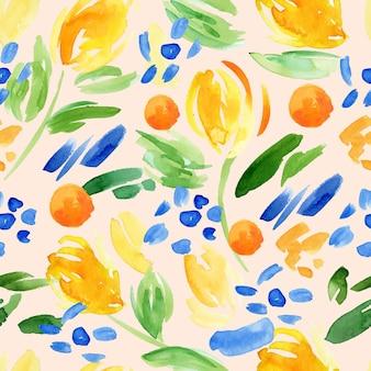 Abstract aquarelpatroon