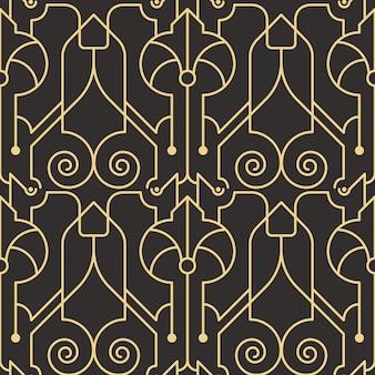 Abstract art deco naadloos modern tegelspatroon