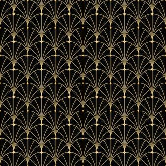 Abstract art deco uitstekend naadloos patroon