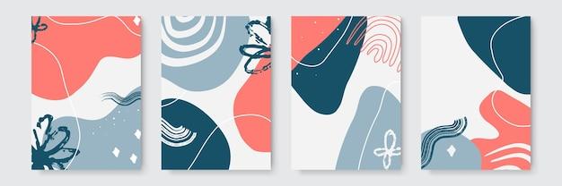 Abstract artistiek patroon met trendy handgetekende texturen, vlekken, penseelstreken. abstracte natuurlijke boho beige creatieve universele artistieke sjablonen.