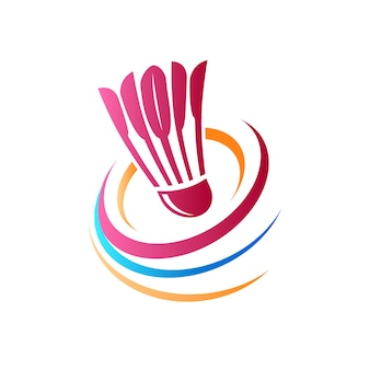 Abstract badminton-logo