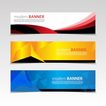 Abstract bannerontwerp. met 3 sets sjablonen. vector