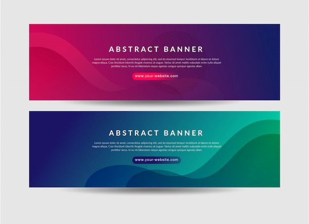 Abstract bannerontwerp