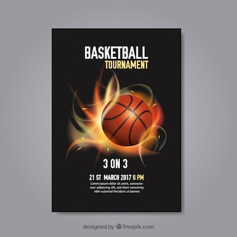 Abstract basketbaltoernooi poster