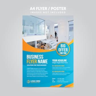 Abstract bedrijf mulripurpose a4 flyer leaflet sjabloon