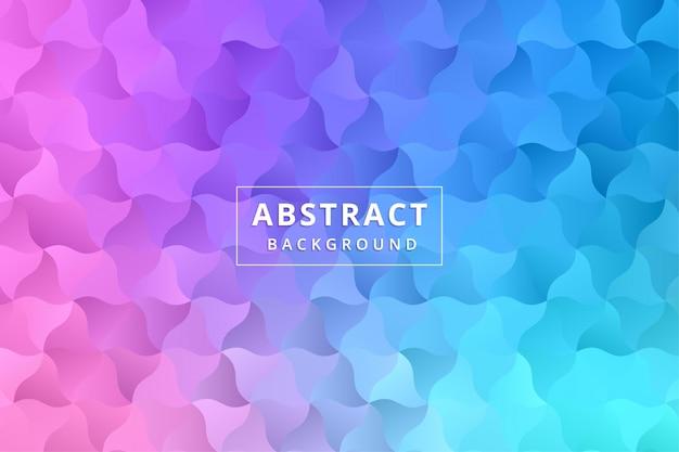 Abstract behang als achtergrond. kleurrijke veelhoek zeshoek premium vector