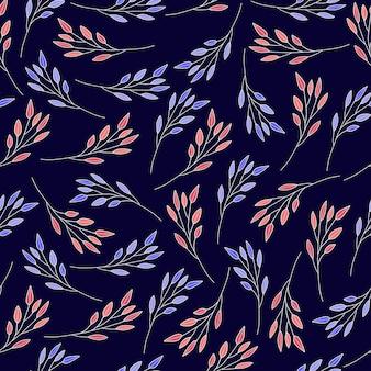 Abstract behang van het blad naadloze patroon