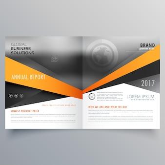 Abstract bifold business template ontwerp met ruimte voor uw afbeelding