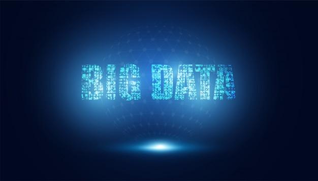 Abstract big data futuristisch netwerk technologie-innovatie