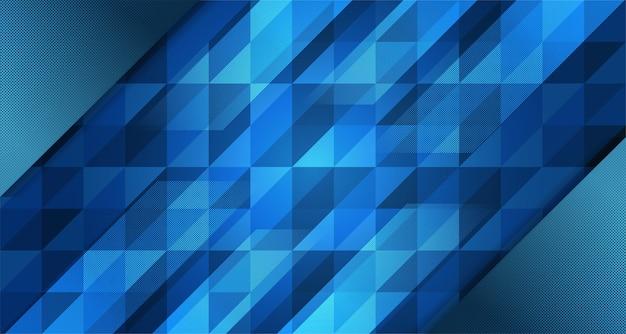 Abstract blauw gradiëntontwerp als achtergrond met geometrische compositie. futuristisch minimaal patroon