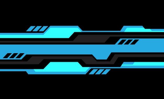 Abstract blauw grijs cyber geometrische lijn wit ontwerp moderne futuristische technologie achtergrond vector