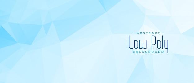 Abstract blauw laag poly geometrisch bannerontwerp