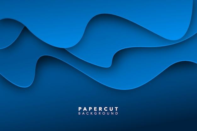 Abstract blauw papier gesneden achtergrond