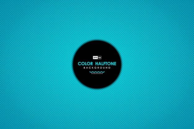 Abstract blauw sjabloon met cirkel stippen patroon ontwerp achtergrond.