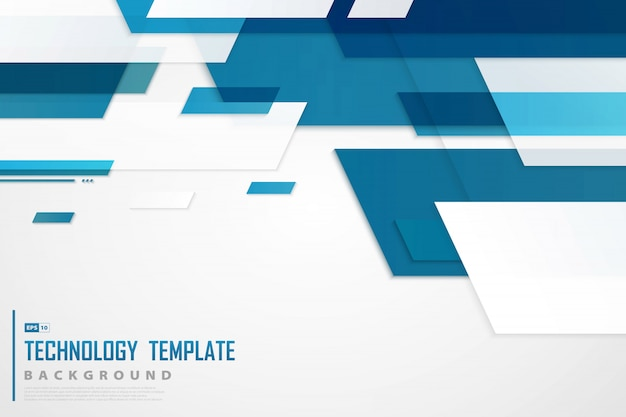 Abstract blauw tech-sjabloon van toekomstige achtergrond.
