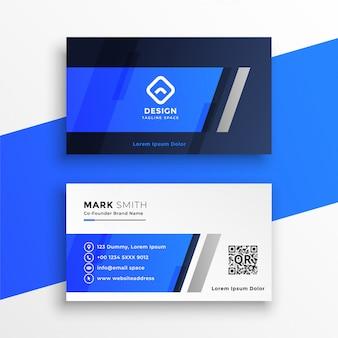 Abstract blauw visitekaartje