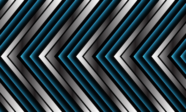 Abstract blauw zilver zwart metallic pijl richting modern luxe futuristisch