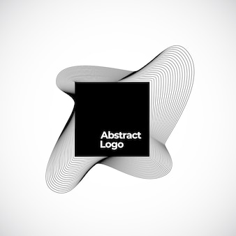 Abstract blend teken, symbool of logo sjabloon.