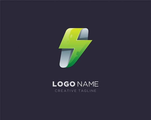 Abstract bliksemschicht logo