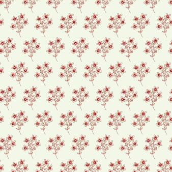 Abstract bloem naadloos patroon met bladeren.