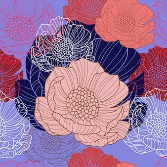Abstract bloem naadloos patroon