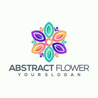 Abstract bloemembleem