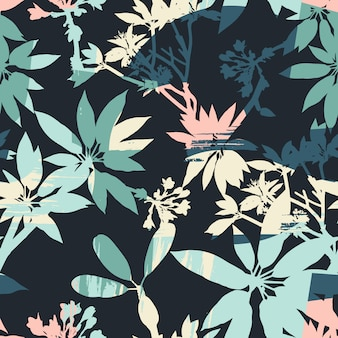 Abstract bloemen naadloos patroon.