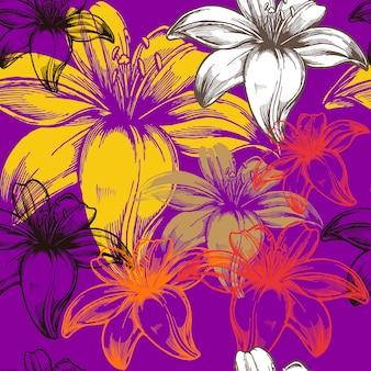 Abstract bloemen naadloos patroon
