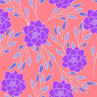 Abstract bloemen naadloos patroonbehang