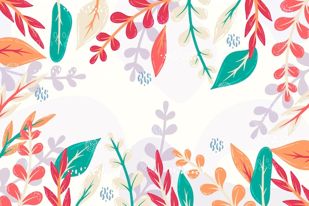 Abstract bloemen plat ontwerp als achtergrond