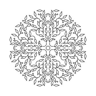 Abstract bloemenembleem