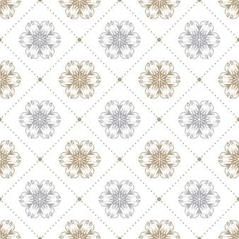 Abstract bloemenpatroon voor de zomer of de lenteachtergrond. creatieve en retro-stijlillustratie