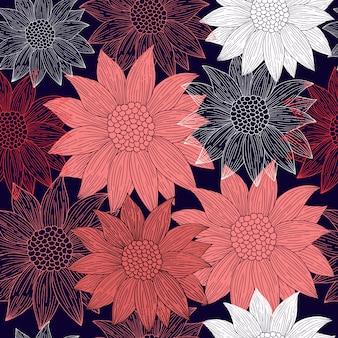 Abstract bloemenpatroon