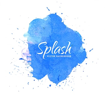 Abstract blue splash aquarel