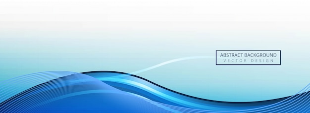 Abstract blue wave banner sjabloon achtergrond