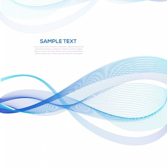 Abstract blue wave zakelijke achtergrond sjabloon