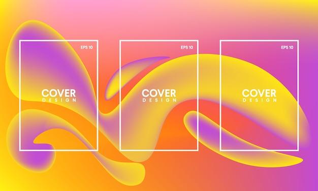 Abstract boek voorbladsjabloon