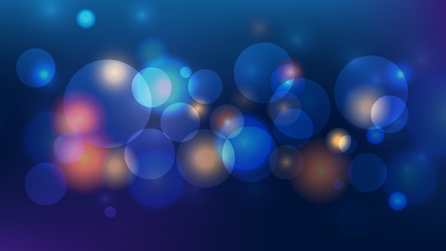 Abstract bokehlicht op donkerblauwe achtergrond