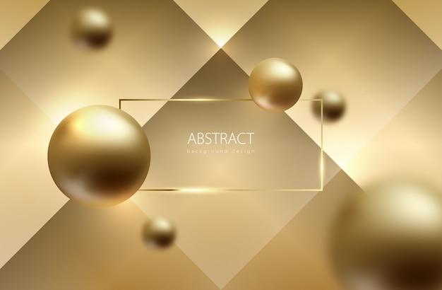 Abstract bol goud