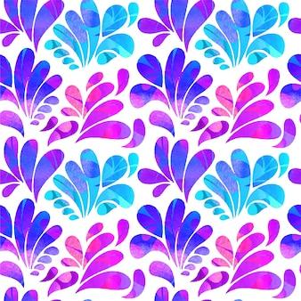 Abstract boog druppels in paarse en blauwe tinten