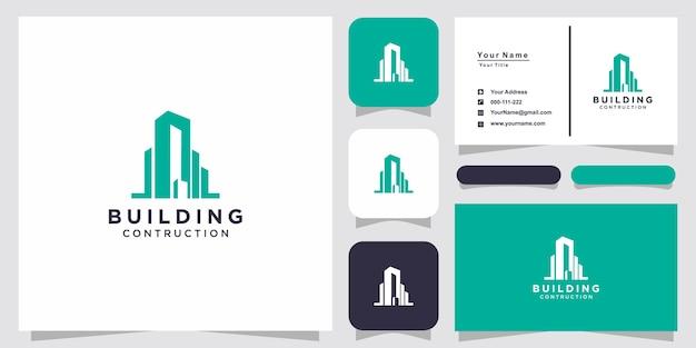 Abstract bouwen voor inspiratie voor logo-ontwerp en visitekaartjeontwerp