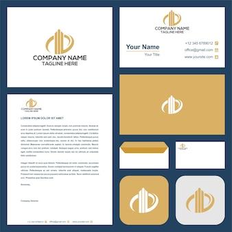 Abstract bouwen voor logo-inspiratie en visitekaartje